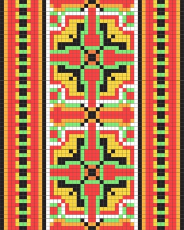 Ethnic Ukrainian ornamental pattern #12 Vector