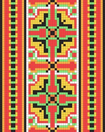 punto cruz: Patr�n ornamental ucraniano �tnico # 12