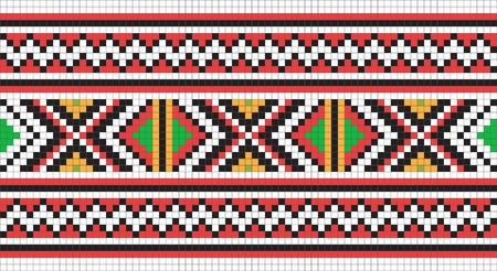 embroider: Ethnic Ukraine seamless pattern #13