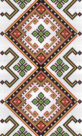 Ukrainian ethnic seamless ornament, #9, vector  イラスト・ベクター素材