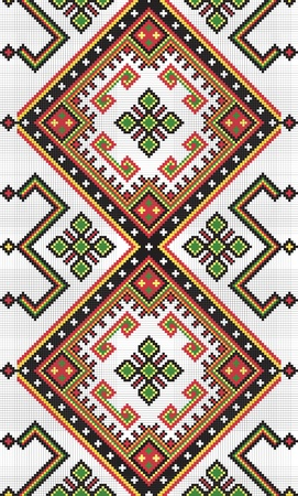Ukrainian ethnic seamless ornament, #9, vector 일러스트