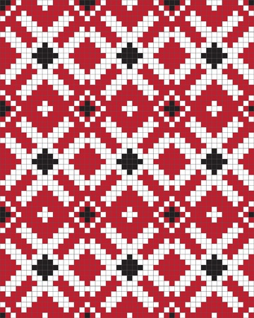serviette: Ethnic Ukraine seamless pattern