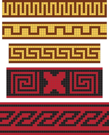 meander: Greek national ornament, seamless pattern