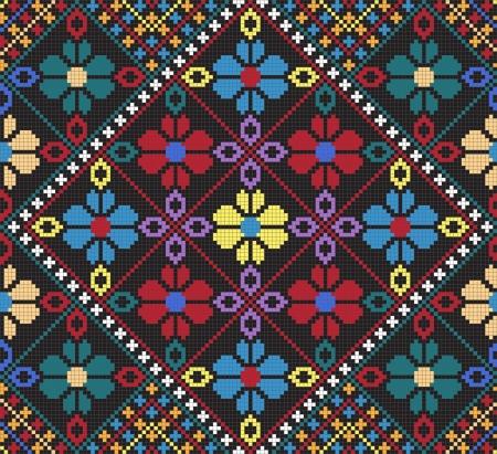 Ukrainian ethnic seamless ornament, #30