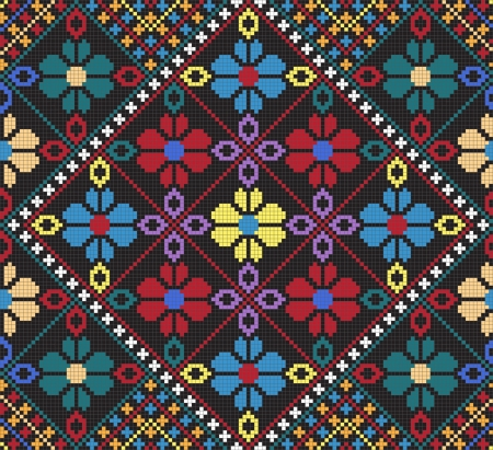 Ukrainian ethnic seamless ornament, #30