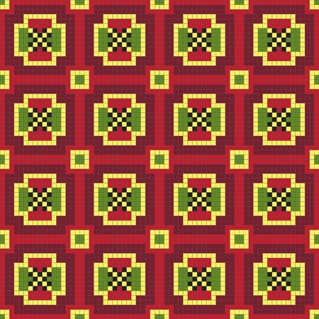 punto cruz: Patr�n ornamental ucraniano �tnico # 32