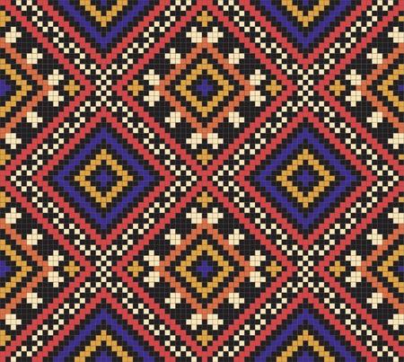 Ukrainian ethnic seamless ornament, #35 일러스트