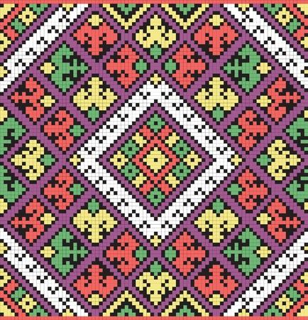 Ukrainian ethnic seamless ornament Vector