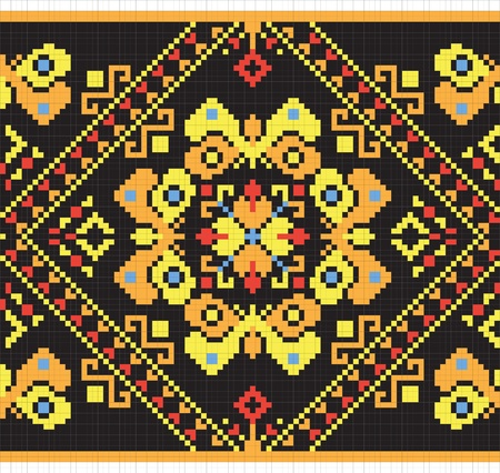 Ukrainian ethnic seamless ornament Vector