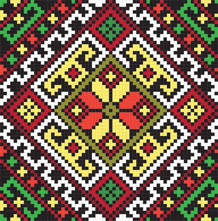 needlecraft: Ukrainian ethnic seamless ornament