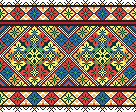 Oekraïense etnische naadloze ornament
