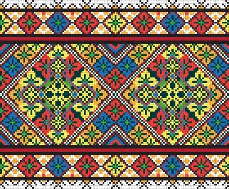 Ukrainien ornement transparente ethnique