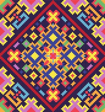 punto cruz: Ucraniano étnico Adorno transparente