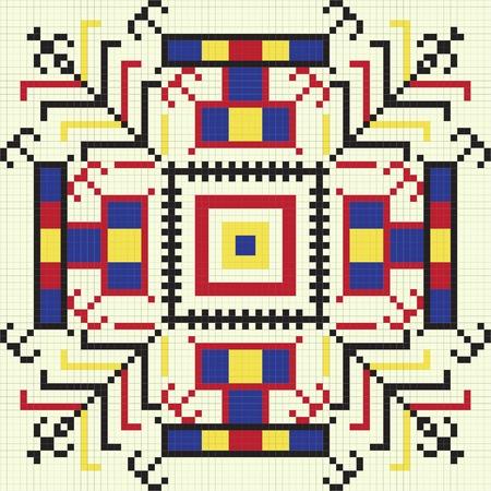 embroider: Ukrainian ethnic seamless ornament, #61, vector