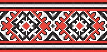 Ukrainian ethnic seamless ornament, #58, vector Vector