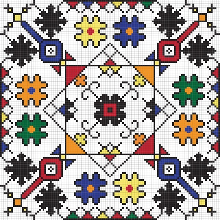 repetitive: Ukrainian ethnic seamless ornament, #59, vector