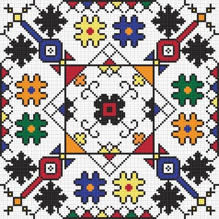 Ukrainian ethnic seamless ornament, #59, vector