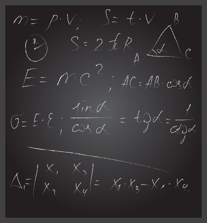 Blackboard with formulas photo
