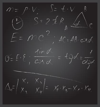 wright: Blackboard with formulas