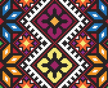embroider: Ukrainian ethnic seamless ornament, #58, vector