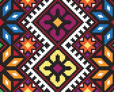 Ukrainienne ornement ethnique homogène, n ° 58, vecteur Banque d'images