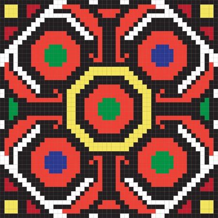 embroider: Ukrainian ethnic seamless ornament, #62, vector