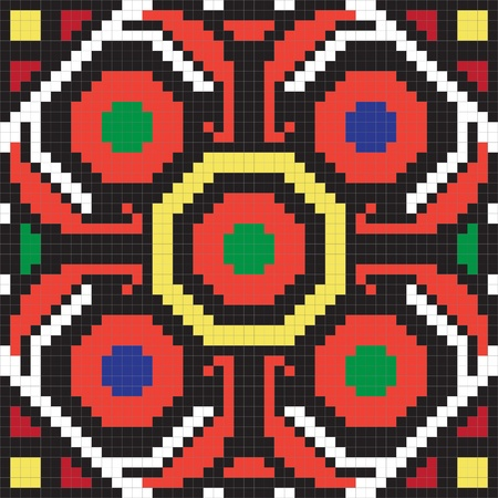 Ukrainian ethnic seamless ornament, #62, vector