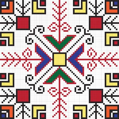 Ukrainian ethnic seamless ornament, #63, vector Vector