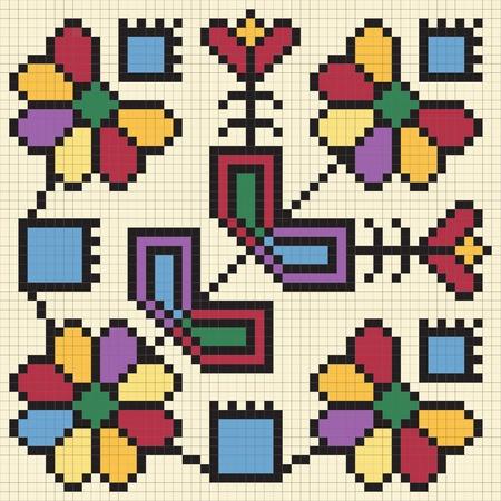Ukrainian ethnic seamless ornament, #67, vector Vector