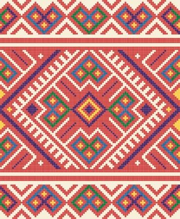 adornment: Ucraino ornamento tubolare etnico, # 65, vettore