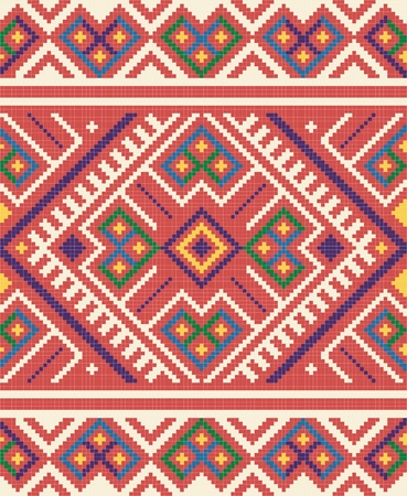 adornment: Ukrainian ethnic seamless ornament, #65, vector