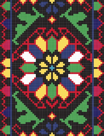 Ukrainian ethnic seamless ornament, #66, vector Stock Vector - 10449085