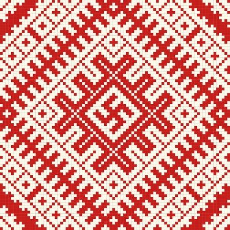 lappet: Ethnic slavic seamless pattern