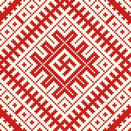 punto cruz: Etnia eslava patr�n transparente