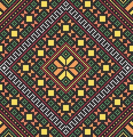 embroider: Ukrainian ethnic seamless ornament