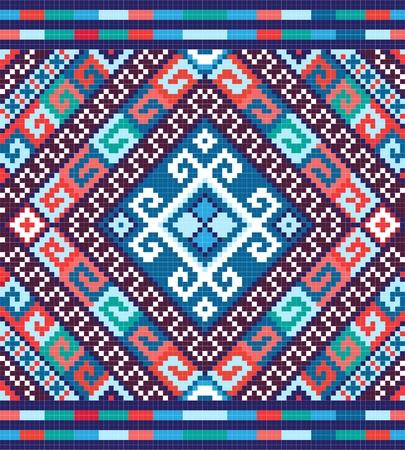 punto cruz: Ucrania ornamento sin fisuras étnicas Vectores