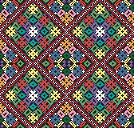 embroider: Ukrainian ethnic seamless ornament