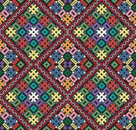 repetitive: Ukrainian ethnic seamless ornament