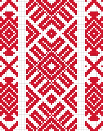 serviette: Ethnic slavic seamless pattern#9