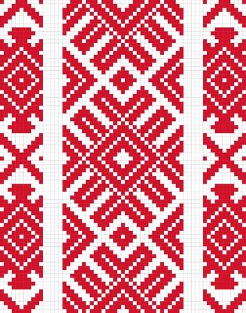 punto cruz: Étnica eslava patrón sin fisuras # 9 Vectores