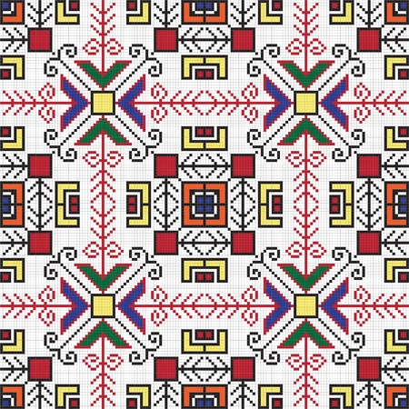 embroider: Ukrainian ethnic seamless ornament, #77, vector