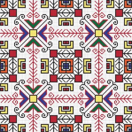 embroider: Ukrainian ethnic seamless ornament, #77, vector