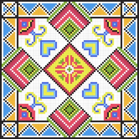 Ukrainian ethnic seamless ornament, #79, vector Vector