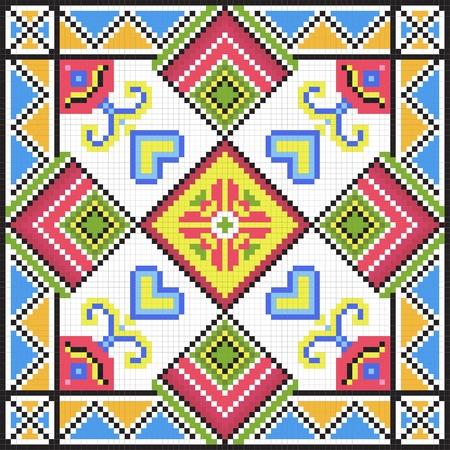 Ukrainian ethnic seamless ornament, #79, vector Vector