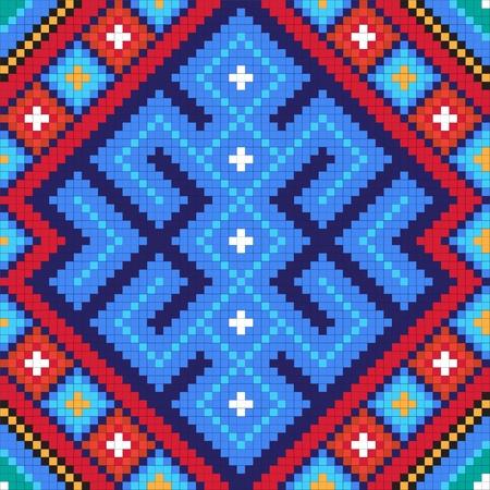 slavic: Ethnic modello slavo seamless # 10