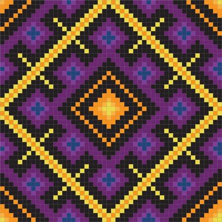 cross stitch: Etnia eslava transparente patr�n # 11 Vectores