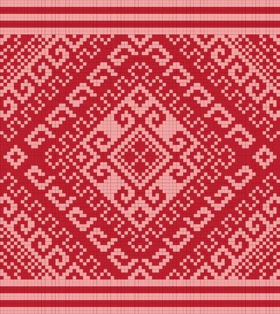 Ukrainian ethnic seamless ornament, #80, vector photo