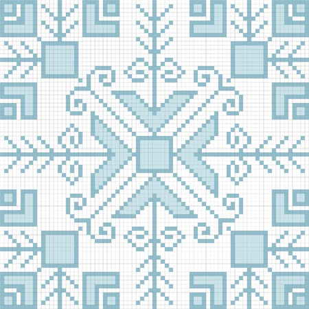Ukrainian ethnic seamless ornament, #81, vector photo