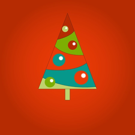 Vector illustration of cute colored Christmas trees Vector