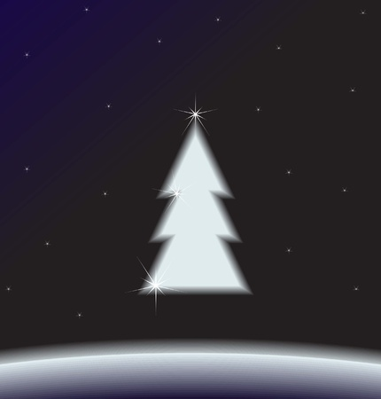 Christmas background (may be used as a Christmas card, vector Vector